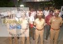 காவல்துறையினருடன் இணைந்து மக்கள் பணியாற்ற வந்த கல்லூரி மாணவர்கள்