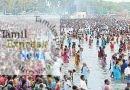 இராமேஸ்வரம் அக்னி தீர்த்தக் கடலில் பக்தர்கள் புனித நீராடினர்