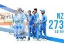#NZvsIND : இந்திய அணிக்கு 274 ரன்கள் இலக்கு..!!